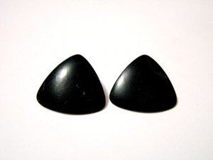 Vintage Black Triangle Pierced Earrings