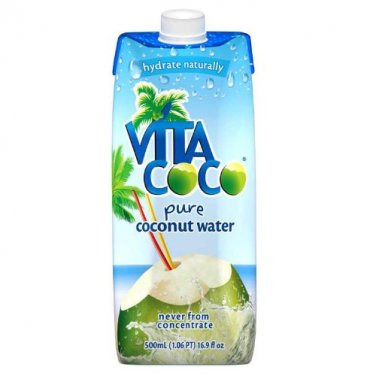 Vita Coco 100% Pure Coconut Water - 16.9 Ounce Containers (Pack of 12)