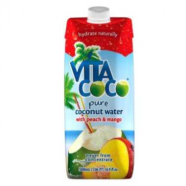 Vita Coco Coconut Water with Peach & Mango - 16.9 Ounce Containers (Pack of 12)