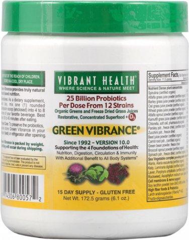 Vibrant Health Green Vibrance Powder - 6.1 oz - 15 Servings