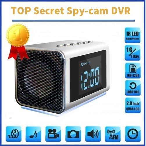 TOP Secret Spy Camera Mini Clock Radio Hidden/Covert DVR 32GB SD Audio/video