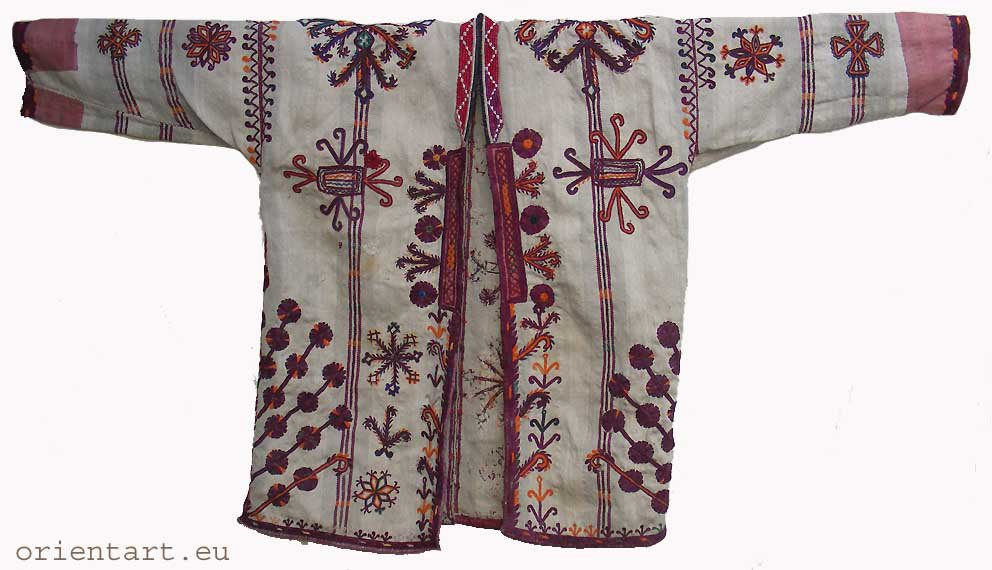 antique afghan Nomadic man�s jacket Paktya coat B