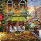 The Café Terrace Near River ----1000 Large Piece Wooden Jigsaw Puzzle