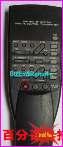 Fit Yamaha RAX5 VY75570 RAX-592 RAX592 AUDIO REMOTE CONTROL