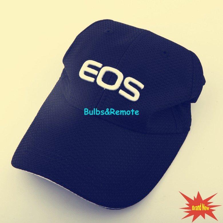 For Canon EOS Logo Baseball Cap Hat Black 7D 60D 5D 5D2 5D3 7D DSLR Universal-size
