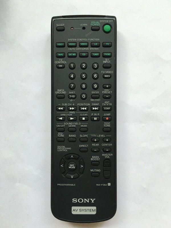 For Sony RM-P362 STR-D550Z STR-D65 STR-D650Z Audio/Video Receiver Remote Control