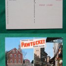 GREETINGS FROM PAWTUCKET RI OLD VIEW VINTAGE POSTCARD