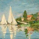 Claude Monet Regatta at Argenteuil Poster 20X30 Art Print