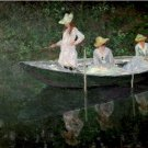 Claude Monet The Boat at Giverny Poster 20X30 Art Print