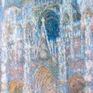 Claude Monet Rouen Cathedral Blue Harmony Morning Sunlight Poster 20X30 Art Print