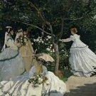 Claude Monet Women in the Garden Poster 20X30 Art Print