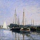 Claude Monet Recreational Boats Poster 20X30 Art Print