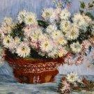Claude Monet Chrysanthemes Poster 20X30 Art Print