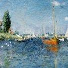 Claude Monet Red Boats Argenteuil Poster 20X30 Art Print