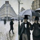 Paris A Rainy Day Gustave Caillebotte Poster 20X30 Art Print