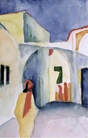 A Glance Down an Alley August Macke Poster 20X30 Art Print