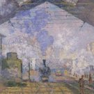 La Gare Saint-Lazare Claude Monet Poster 20X30 Art Print