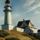 Lighthouse at Two Lights Edward Hopper Poster 20X30 Art Print