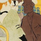 An Englishman at the Moulin Rouge Henri de Toulouse Lautrec Poster 20X30 Art Print