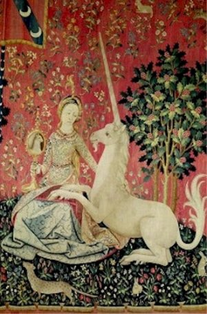 The Lady and the Unicorn The Sight Tapestry Poster 20X30 Art Print