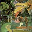 Landscape With Peacocks Matamoe Paul Gauguin Poster 20X30 Art Print