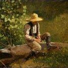 The Whittling Boy Winslow Homer Poster 20X30 Art Print