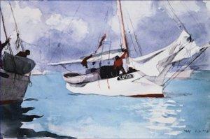 Fishing Boats Key West Florida Winslow Homer Poster 20X30 Art Print