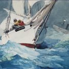 Diamond Shoal Cape Hatteras Winslow Homer Blues Poster 20X30 Art Print