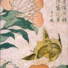Peony and Canary Katsushika Hokusai Poster 20X30 Art Print
