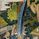Roben Waterfall of Oyama Sagami Province Hokusai Poster 20X30 Art Print