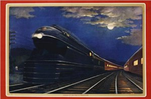 20X30 Art Deco Poster Pennsylvania Railroad Leaders of Fleet of Modernism