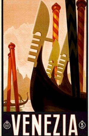 20X30 Art Deco Travel Poster Venezia Venice