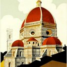 20X30 Art Deco Travel Poster Firenze