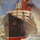 20X30 Art Deco Travel Poster Cunard Line