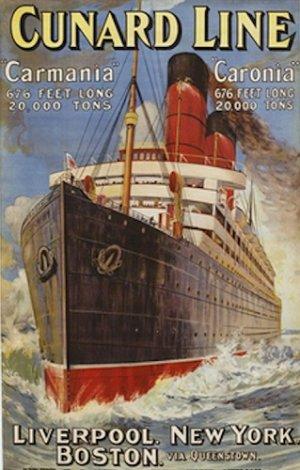 20X30 Art Deco Travel Poster Cunard Line