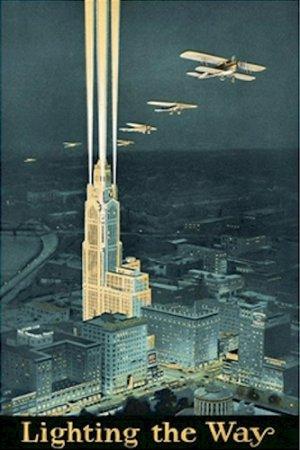 20X30 Art Deco Poster Lighting the Way Illustration