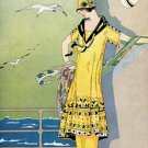 20X30 Art Deco Poster Woman on Cruise Ship