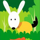 Poster Baby Toddler Rabbit Carrot 16X20 Art Print