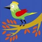 Poster Baby Toddler Cute Green Bird 16X20 Art Print