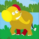 Poster Baby Toddler Elephant By A River 16X20 Art Print