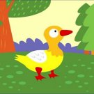 Poster Baby Toddler Yellow Duckling Standing in Meadow 16X20 Art Print