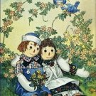 Poster Baby Toddler Raggedy Ann Raggedy Andy Two Robins 20X30 Art Print