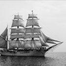 Black and White Photo 8X10 Tall Ship Under Full Sail