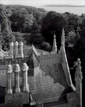 Black and White Photo 8X10 Hudson River from Roof Lyndhurst Villa New York