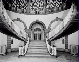 Black and White Photo 8X10 Main Staircase New York City Hall