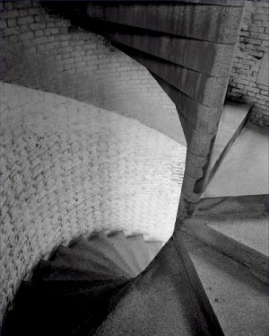 Black and White Photo 8X10 Fort Point Lighthouse Spiral Staircase