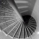 Black and White Photo 8X10 Staircase Portland Head Lighthouse