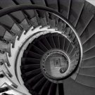 Black and White Photo 8X10 Staircase James E D Lanier House