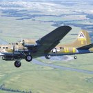 B-17 Flying Fortress Bomber Shoo Shoo Shoo Baby landing gear down Photograph 8X12
