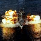 USS NEW JERSEY BB 62 firing its nine 16-inch guns Photograph 8X10
